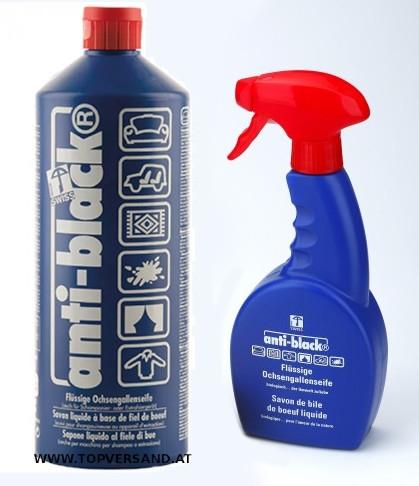 AntiBlack Set: Flasche 1L + Sprühflasche 500ml
