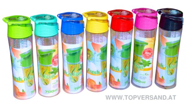Trinkflasche mit Obstfilter