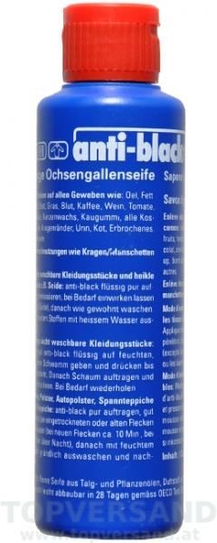 Anti-Black Ochsengallenseife 250ml, flüssig